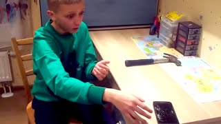 Idiot Kid Breaks Phone Like An Idiot | What