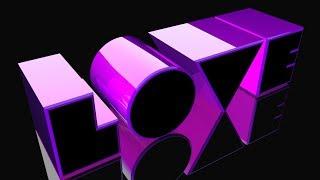 Cinema 4D Animation - Glossy Neon Intro