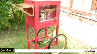"""SMART 59"""" Old Fashioned Movie Time Popcorn Cart"""