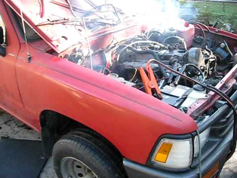 Toyota Diesel Truck >> Toycedes pt2 Turbo Diesel Mercedes in an 1989 Toyota 2wd Pick-up - YouTube
