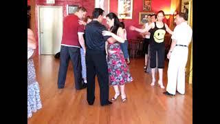 Dancing The Argentine Tango - Vals lesson Steps - Oscar Mandagaran & Georgina Vargas