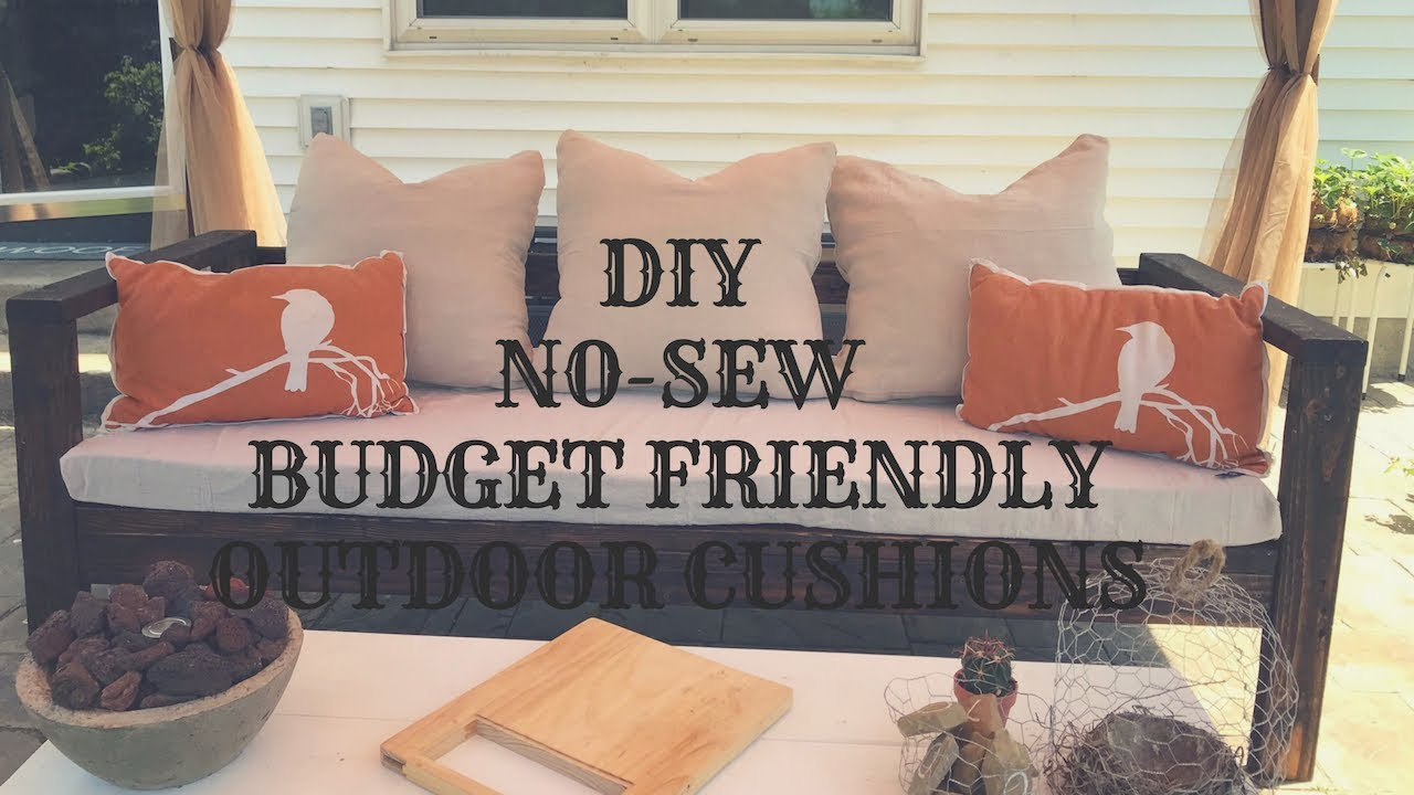 Diy No Sew Budget Friendly Outdoor Cushions