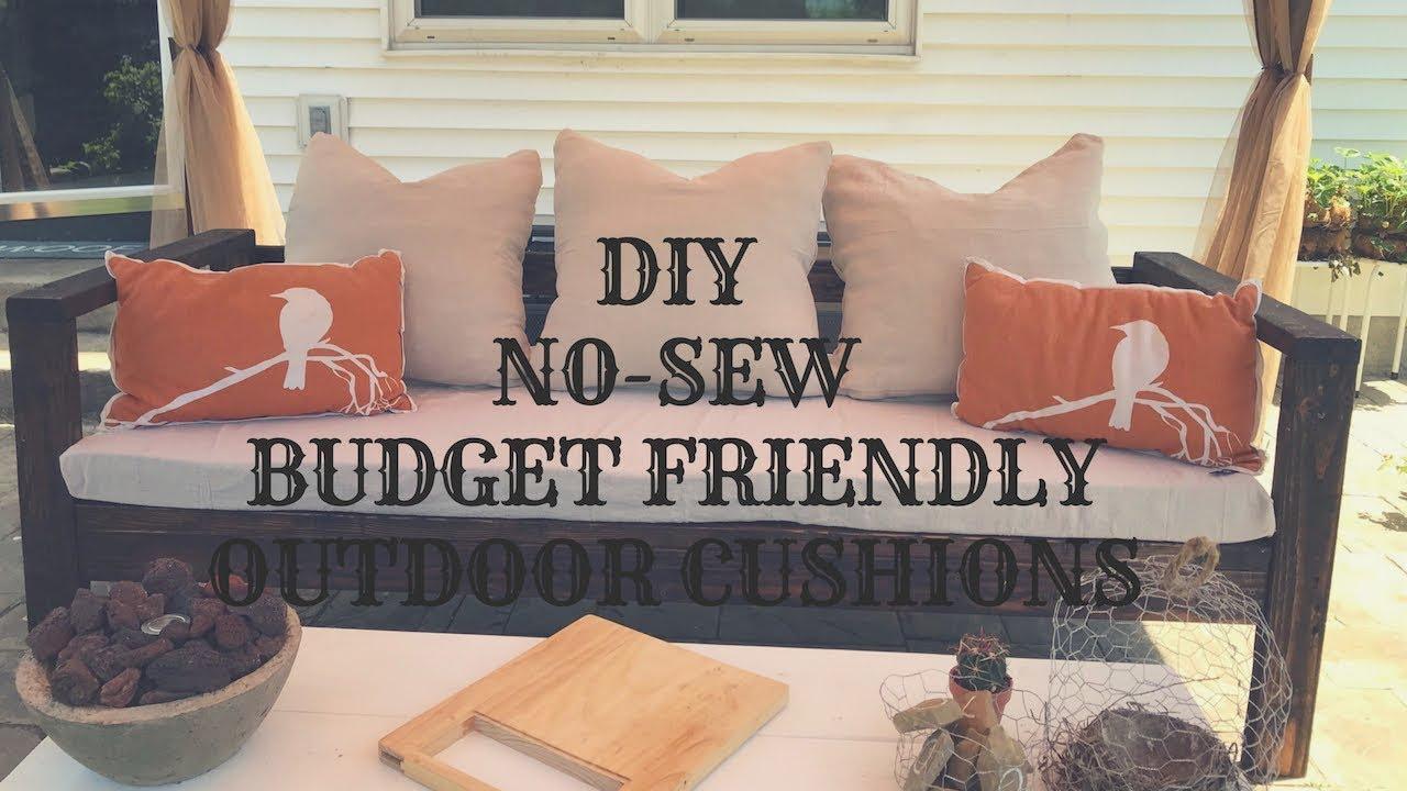 diy no sew budget friendly outdoor cushions