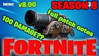 Battle Pass, Volcano And Pirate Cannon: Here's Fortnite's Season 8 Patch Notes #facts #fortniteBR