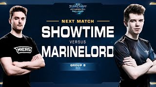 ShoWTimE vs MarineLord PvT - Group B - WCS Challenger EU Season 2