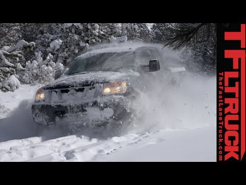 2015 Nissan Titan Snowy First Tracks Farewell Off-Road Review in TFL4K
