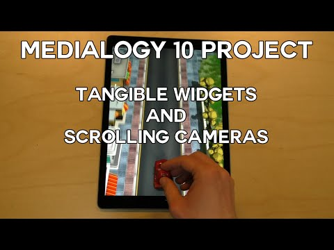 Tangible Widgets and Scrolling Cameras - Medialogy, Aalborg University