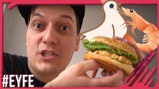 Unglaublich geiler Burger! Chicken-Shrimp-Burger-Protein-Bombe!
