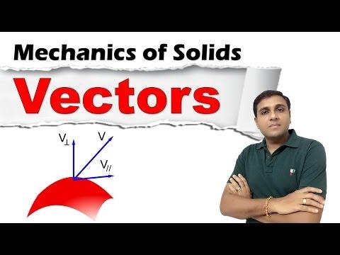 Vectors I How to define a Vector I Vector Products I Vector Operations I Mechanics of Solids