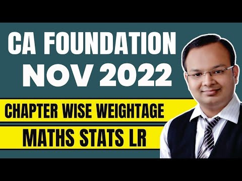 CA Foundation Nov 2021 | Chapter wise weightage Maths Stats LR | Marks Distribution of CA Foundation
