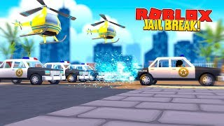 ROBLOX JAIL BREAK ROCKET FUEL UPDATE - DONUT STEALS A POLICE CAR AND PUTS SO MUCH ROCKET FUEL IN IT