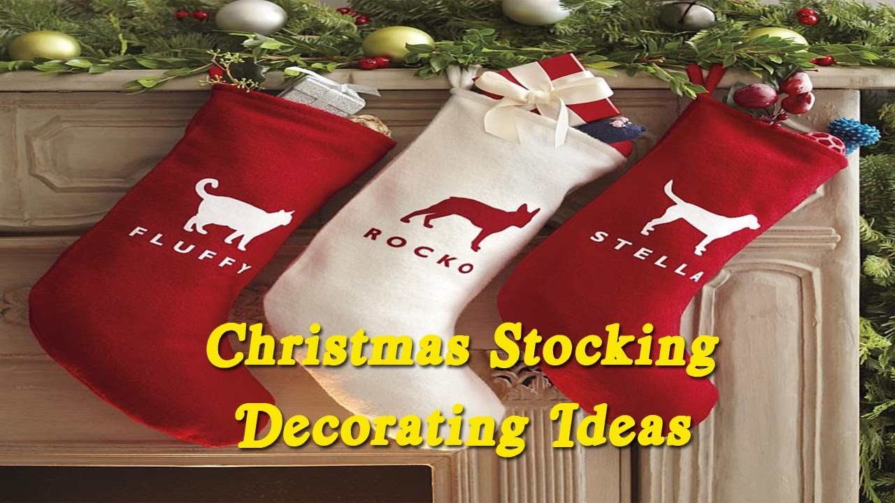 christmas stocking decorating ideas creative diy christmas stockings design ideas - Christmas Stocking Decorating Ideas