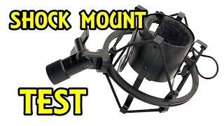 cheap shock mount test with cad u37 usb mic