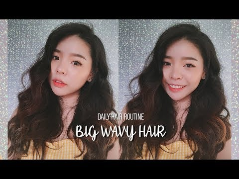 BIG WAVY HAIR TUTORIAL - Updated Hair Routine (With Subs) | Erna Limdaugh