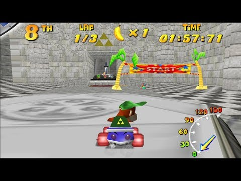 Ocarina Of Time Levels In Diddy Kong Racing(Real N64 Capture)