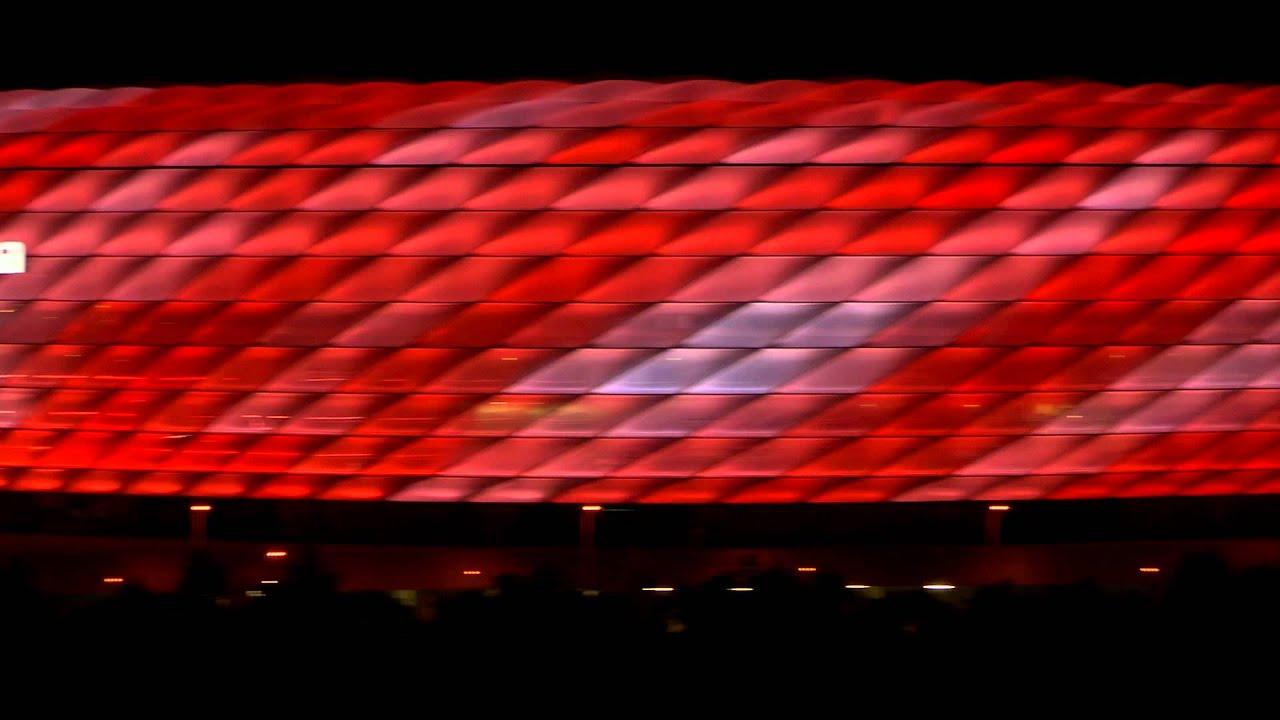 Aussenansicht: Dynamische LED Beleuchtung für die Allianz Arena ...
