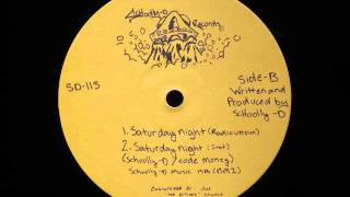 "SCHOOLLY D - Saturday Night (12"") / Side B - 1986"