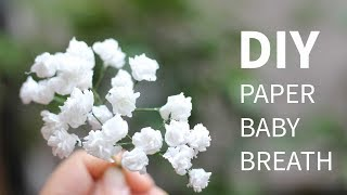DIY paper baby breath flower from tissue paper, SUPER SIMPLE and REALISTIC