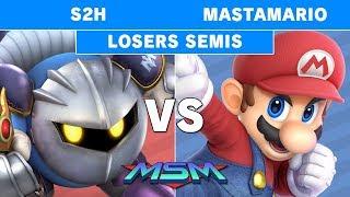 Smash Ultimate Tournament - MSM 175 S2H (MK) vs MastaMario (Mario) Losers Semis