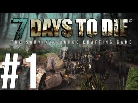 7 Days to Die - Minecraft แบบสมจริง(ซอมบี้โหดมาก)!? - Alpha - (1)