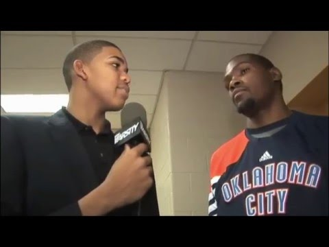 Karl Anthony Towns Interviews Kevin Durant