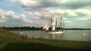 Tall Ships Challenge - KRI Dewaruci Sails into Savannah