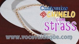 Repeat youtube video Customize seu havaianas / Customize your slipper