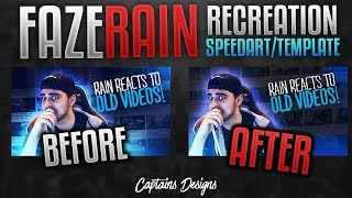FaZe Rain Thumbnail Recreation Speedart + Template Included