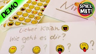 Emoji Briefe mit Nachrichten an Nina & Kaan | Kathi schreibt Weihnachtspost Spiel mit mir deutsch