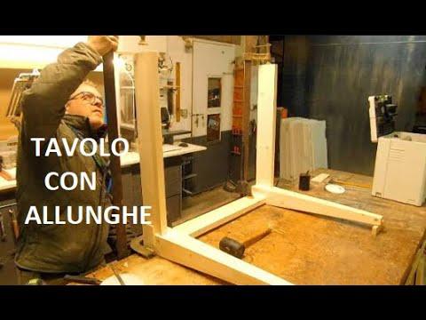 Progetto Tavolo Allungabile Legno.Tavolo Allungabile Table Wood Legno Su Misura Abete Festool Guide Allungabili Falegname Tutorial