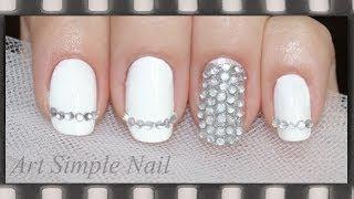 Белый маникюр на свадьбу | Silver and White - Wedding Nail Art