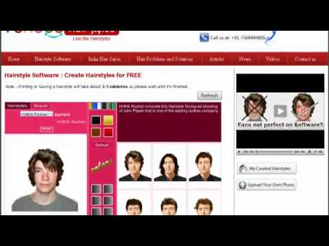 Hairstyle Software - YouTube
