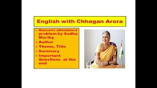 Summary of Hassan's attendance problem by Sudha Murthy