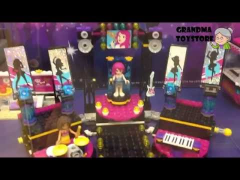 Unboxing TOYS Review/Demos - lego friends concert toyset party with your friends