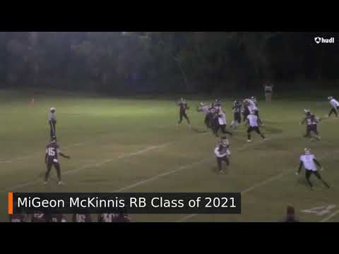 West Oaks Academy #3 MiGeon McKinnis RB Class of 2021