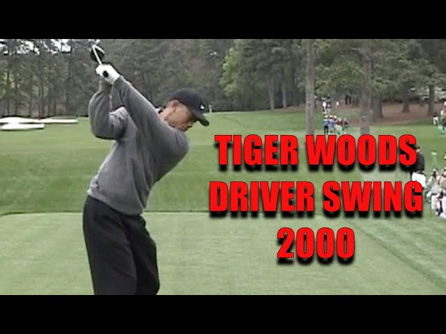 Tiger Woods Driver Swing at the 2000 Masters...