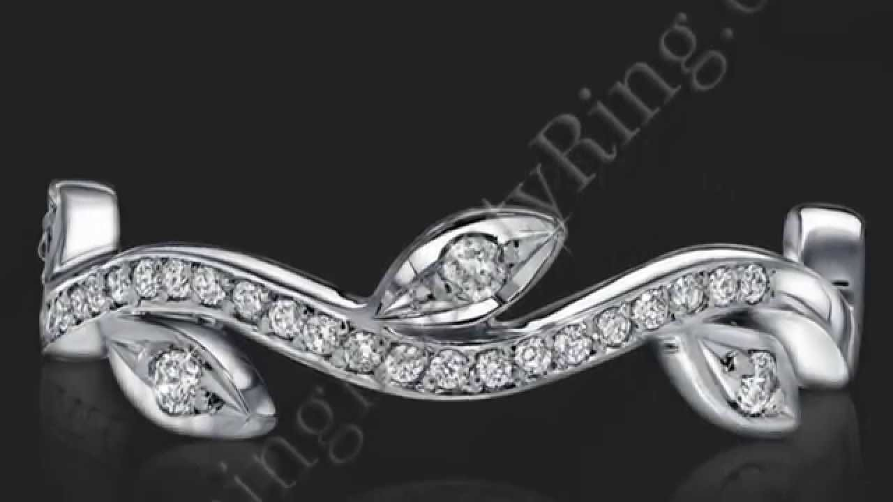 pav in rings french enr gold diamond a round engagement cathedral flower white brilliant ring halo platinum lotus pave gallery
