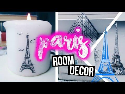 🌸 DIY City Inspired Room Decor {PARIS} 🌸