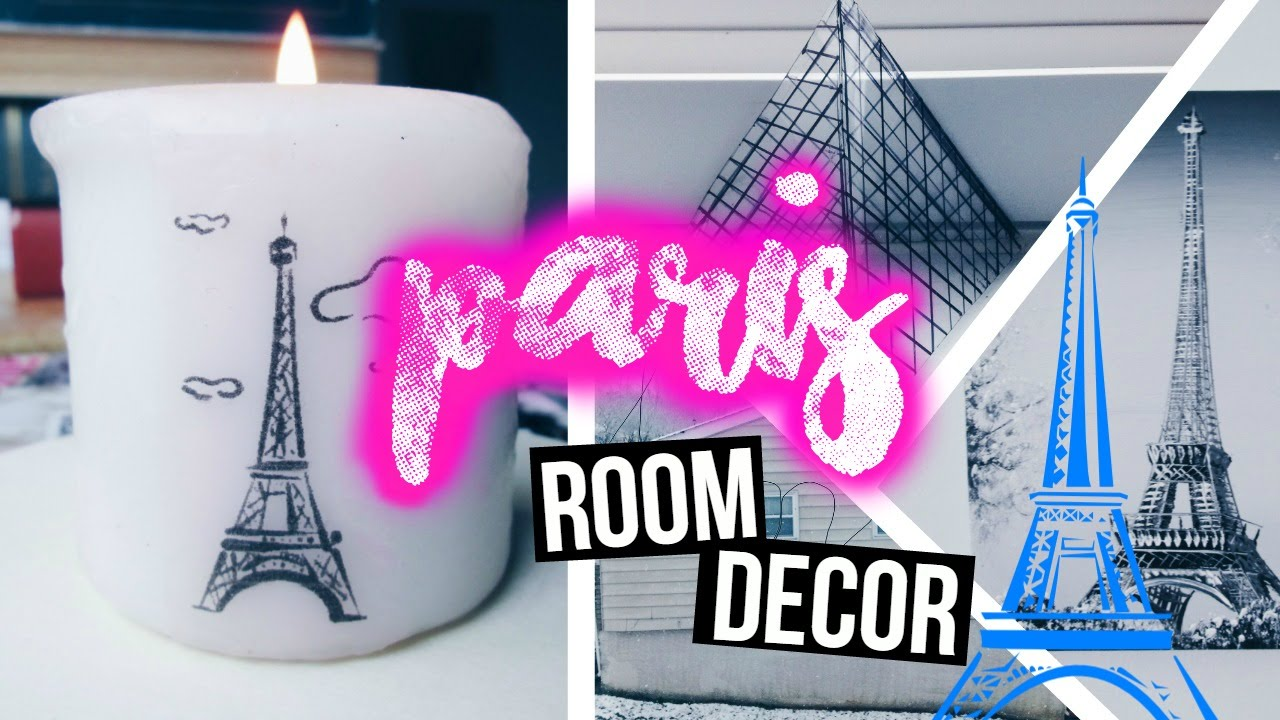 DIY City Inspired Room Decor {PARIS}  - YouTube