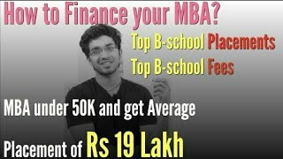 How to finance your MBA  Top B schools Placements, Fees   Difference b w MBA and