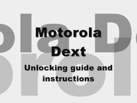 UNLOCK MOTOROLA DEXT MB220 - How to Unlock Motorola Dext MB220 by Subsidy Unlock code