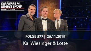 Die Pierre M. Krause Show vom 26.11.2019 mit Kai, Tahnee und Lotte