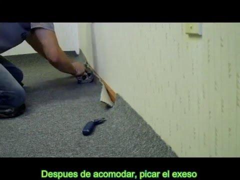 Instalador de pisos floor layer alfombra con pega youtube - Cubre piso alfombra ...