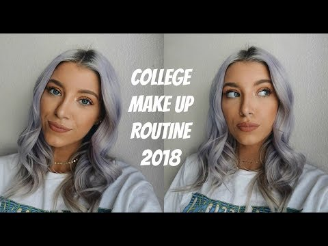 COLLEGE EVERYDAY MAKE UP ROUTINE  2018