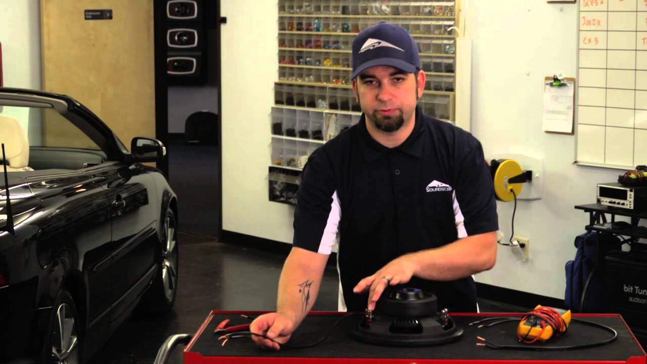 How To Wire Up A 4 Ohm Dvc Subwoofer Car Audio Youtube Wiring Diagram Mono 3