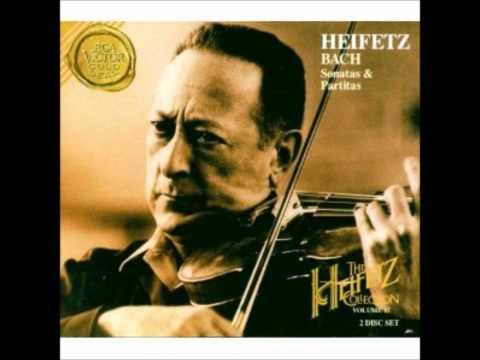 Jasha Heifetz Bach Sonata G minor Presto