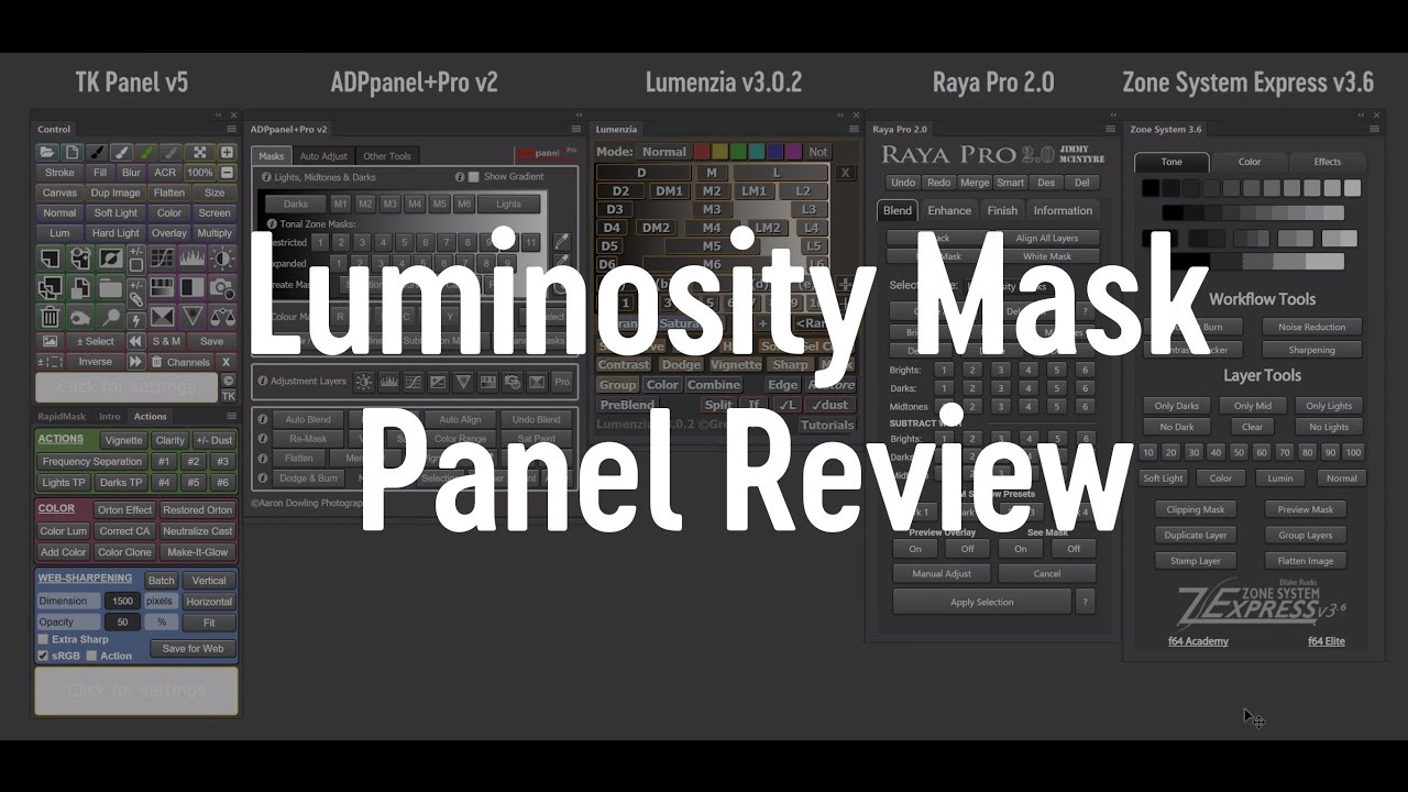 Luminosity Mask Panels Review