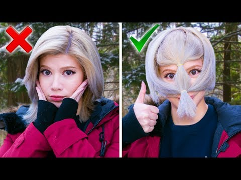 Trying AWFUL 5Minute Winter Clothing Hacks