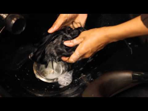 How to Wash a Weft Weave Before Installing : Hair & Weave Maintenance