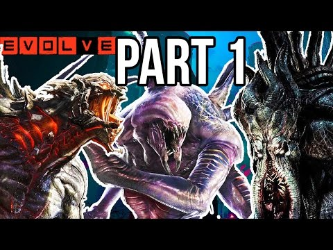 Evolve Gameplay Walkthrough Part 1 - Single Player - Evacuation Campaign!! PC 60fps 1080p HD